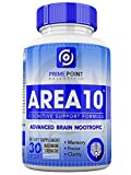Cheap Area 10 Cognitive Support Advanced Scientific Nootropic Formula for Memory, Clarity and Focus, Neurological Health, and: Optimal Brain Boost Function, 30 Capsules