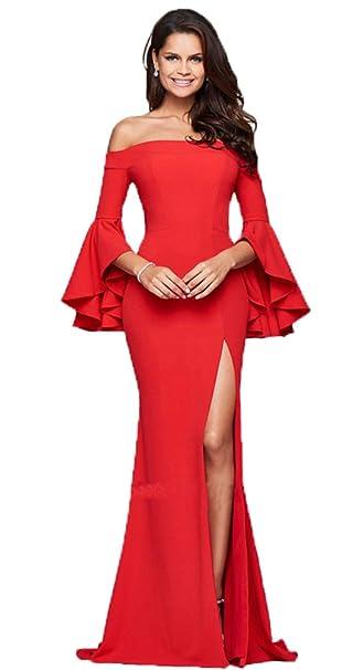 e85ae1378 YiJee Mujer Sin Respaldo Largo Vestidos de Coctel Elegante Vestido de Noche  Rojo XL  Amazon.es  Ropa y accesorios