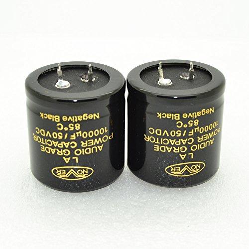 2pcs Nover LA 10000uF 50V 35x35mm Audio Grade Power Capacitor-4001