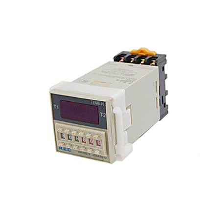 uxcell 0.1s - 99h 24V DC Programmable Double Time Delay Relay ... on