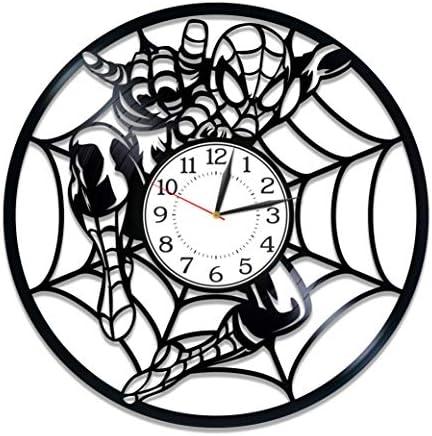 Kovides Spider-Man Vinyl Record Wall Clock Superhero Film Birthday Gift Idea