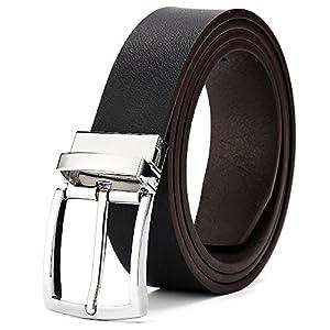 XIANGUO Ceinture homme en cuir ceinture exquis noir  marron ceinture de  business, Parfait pour un cadeau. ee1e6e8acf6
