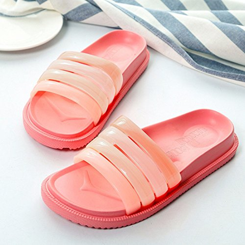 WILLIAM&KATE Mens and Womens Gradient Color Bathroom Anti-Slip Shower Slipper Summer Casual Sandal Pink BW7puTXSK