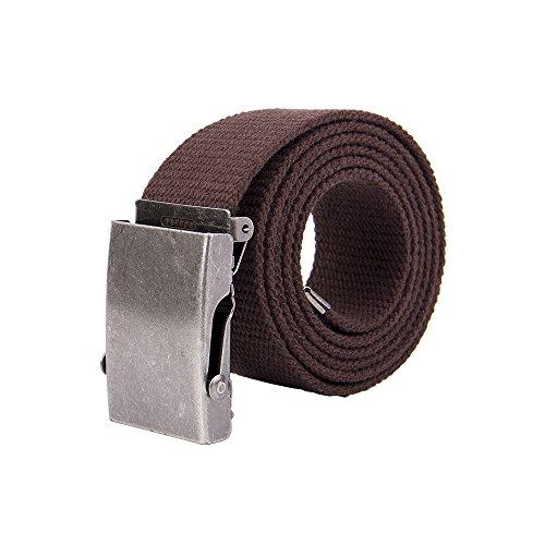 Canvas Cotton Belt (Gelante Canvas Web Belt Military Style Belt)
