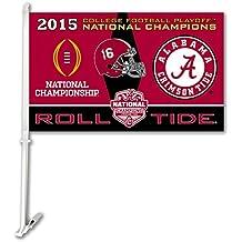 NCAA Alabama Crimson Tide College Football Champ Car Flag,One Size,Team color