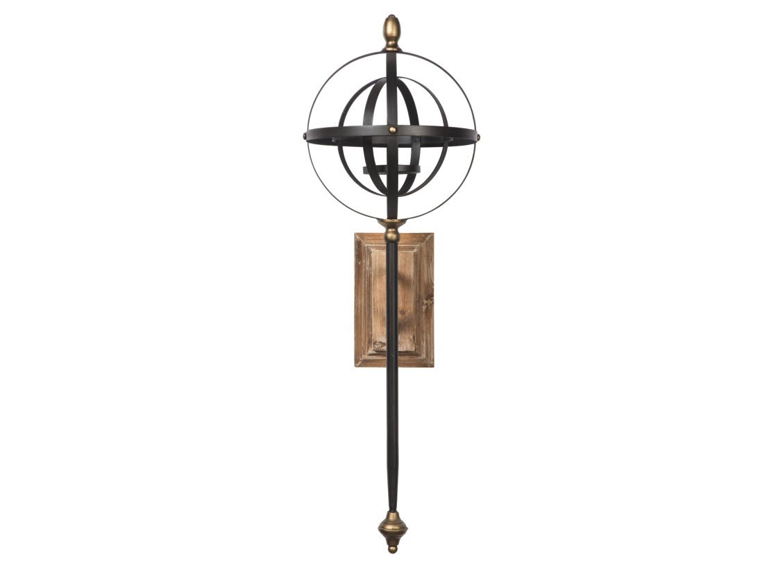 Signature Design by Ashley A8010118 Wall Sconce, Black/Gold Finish