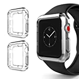 watch bumper - Apple Watch Series 3 Case 38mm, Alritz Soft Slim TPU Protective Case Flexible Anti-Scratch Bumper Cover for Apple Watch Series 1/2/3 (Clear)