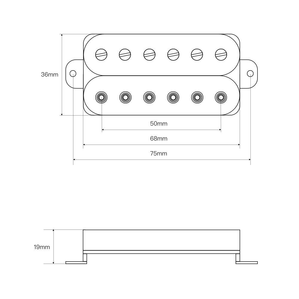 Pastillas de repuesto para guitarra el/éctrica FLEOR Humbucker Alnico 5 imanes