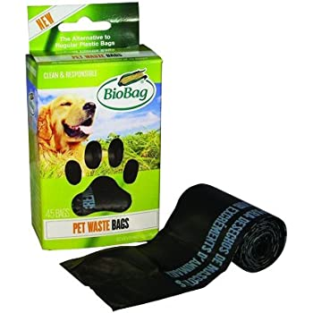 BioBag Dog / Pet Waste Bags on a Roll 45 Bags Each Box (Pack of 4)