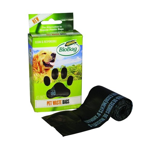 (BioBag Dog / Pet Waste Bags on a Roll 45 Bags Each Box (Pack of 4))