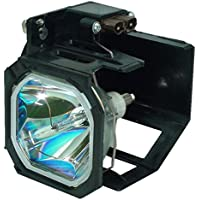 AuraBeam Economy Mitsubishi 915P028010 Television Replacement Lamp with Housing