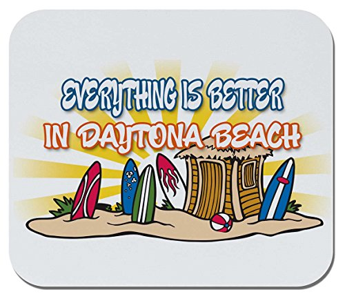 Makoroni - Everything is Better, in Daytona Beach - Non-Slip Rubber Mousepad, Gaming Office Mousepad