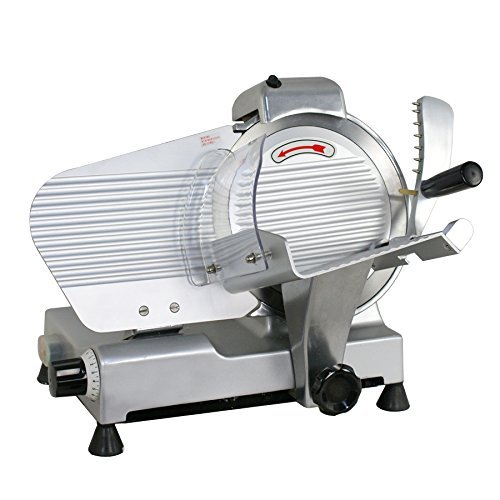 Super Deal Commercial Stainless Steel Semi Auto Meat Slicer  Cheese Food Electric Deli Slicer Veggies Cutter