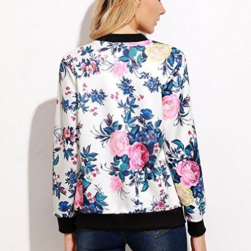 Blousons LILICAT Femmes Impression occasionnelle Zipper Vintage Blazer Jacket Coat Outwear Chemisier