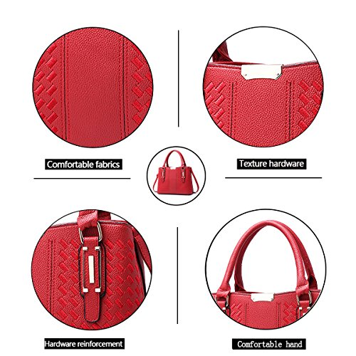 Women Bag Girl Shoulder Pu Leather Bag Red Working Tisdaini Handbag Fashion xpCwqWqZR