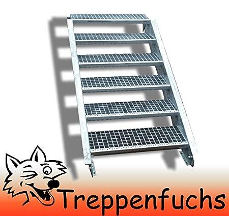 6 Stufen / 100cm breit / Höhe 90 - 120cm