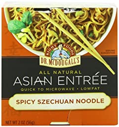 Dr. McDougall\'s Right Foods Asian Entree, Spicy Szechuan Noodle, 2-Ounce Packages (Pack of 6)