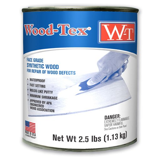 Wood-Tex 34011026 Wood Filler Adhesive - Quart, Natural/Ash