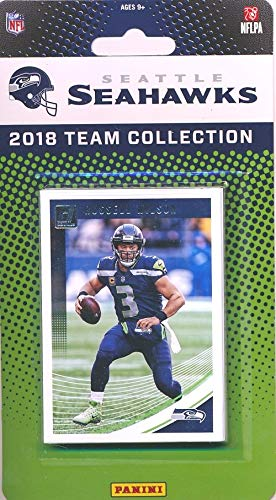 (Seattle Seahawks 2018 Donruss NFL Football Factory Sealed Limited Edition 11 Card Complete Team Set Russell Wilson, Bobby Wagner, Chris Carson & Many More! WOWZZER!)