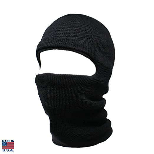 ChoKoLids Face Ski Mask Winter Beanie Made in USA (Black) at ...
