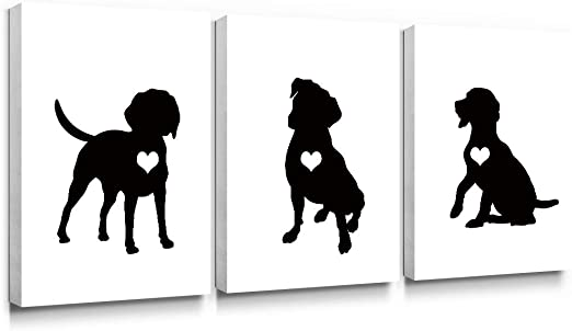 Boxer Dog Cute Puppy PosterBlack /& White Wall Art Print Card or Canvas