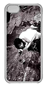 Customized iphone 5C PC Transparent Case - Dark Girl 2 Personalized Cover