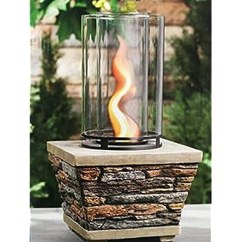 Amazon Com Table Top Gel Fuel Vortex Fire Column Flame
