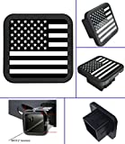 """USA US American Flag Trailer Hitch Cover Tube Plug Insert (Fits 2"""" Receivers)"""