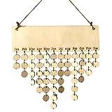 Cocoray Hanging DIY Wooden Blank Calendar Kalendar Reminder Board Plaque Sign House Decoration Pendant Tag