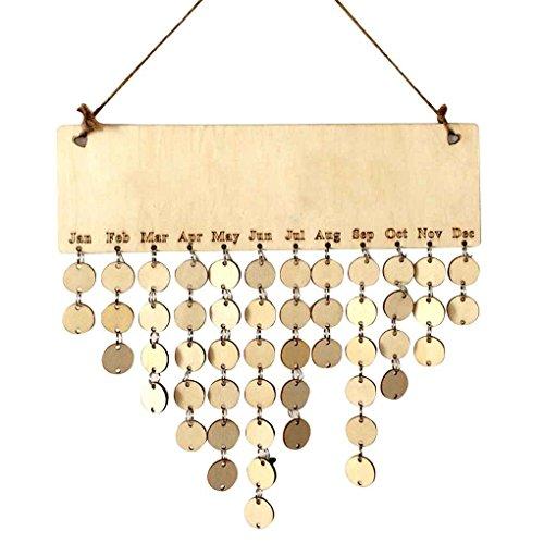 Tralntion Hanging DIY Wooden Blank Calendar Kalendar for sale  Delivered anywhere in USA