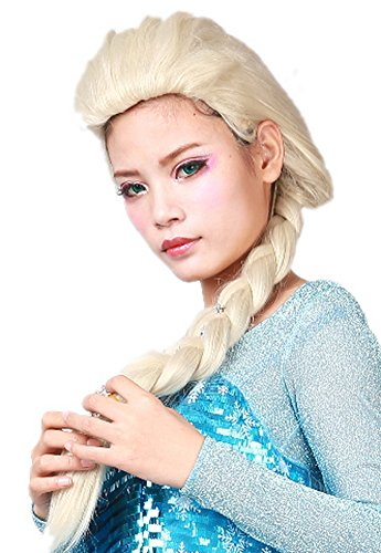 Frozen Costumes For Men (Girls Elsa Wig Braids Synthetic Party Hair Tails for Womens Cosplay Accessory)