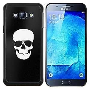 """Be-Star Único Patrón Plástico Duro Fundas Cover Cubre Hard Case Cover Para Samsung Galaxy A8 / SM-A800 ( Blanco Negro del cráneo del pirata de la bandera de la Muerte"""" )"""