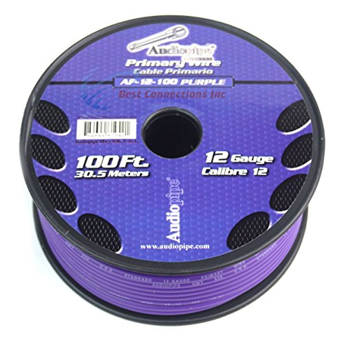 12 GA PRIMARY POWER GROUND WIRE (4) 100FT ROLLS BOAT CAR 12-80 VOLT MULTI COLOR by Audiopipe (Image #4)