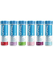 Nuun Sport: Electrolyte Drink Tablets, Variety Pack, (60 Servings), 10 Count (Pack of 6)