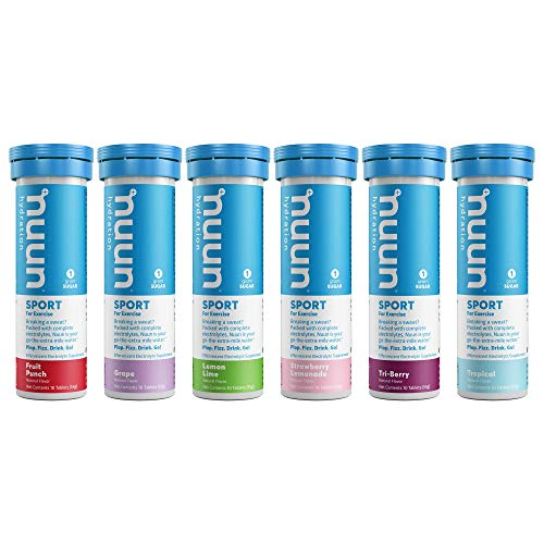 Nuun Active Hydration Variety Pack New & Improved (6 Flavors - 60 Tabs)