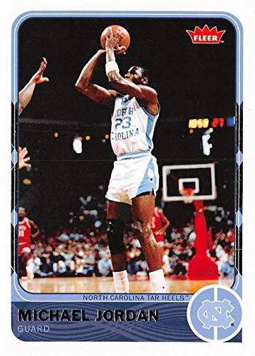 (Michael Jordan Basketball Card (UNC, North Carolina Tar Heels) 2012 Fleer Retro #1)
