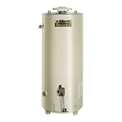 AO Smith BT-80 Tank Type Water Heater with Commercial Natural Gas ...