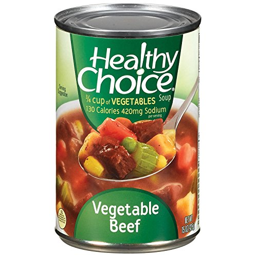 - Healthy Choice Vegetable Beef Soup Cans 15OZ (Pack of 24)