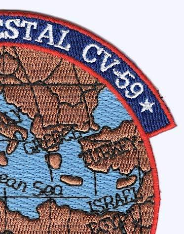 North Atlantic 1988 Cruise patch USS Forrestal CV-59 Indian Ocean Med