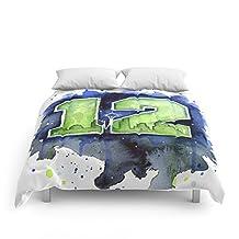 "Society6 12th Man Seahawks Seattle Go Hawks Art Comforters Queen: 88"" x 88"""