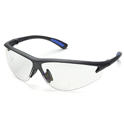 232bc6bdec Bifocal Safety Glasses in Polycarbonate Clear Lens +2.5 Diopter - -  Amazon.com