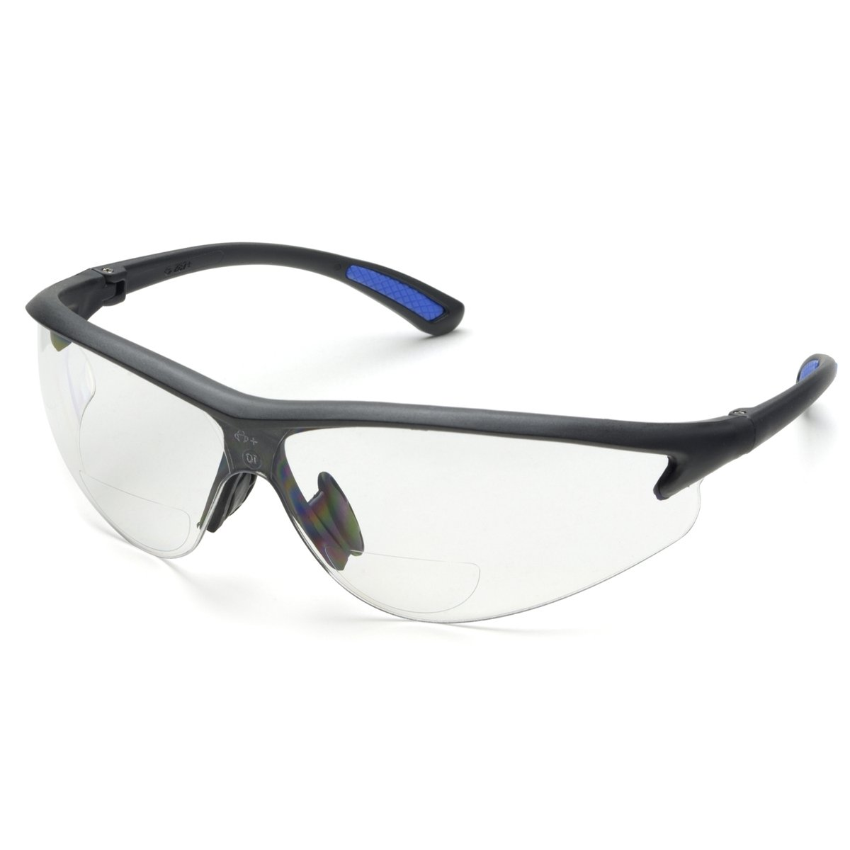 Elvex RX-300-1.0 Safety Reading Glass, PC Lens, +1.0 Diopter, Clear Lens