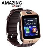 Smart Watches Best Deals - Amazingforless Bluetooth Touch Screen Smart Wrist Watch Phone with Camera - Gold