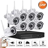 SW SWINWAY 8CH 720P HD WIFI Security Camera System Wireless Video Surveillance Network NVR Kits CCTV IP Camera with 8Channels Cameras System Night Vision Without Hard Drive For Sale