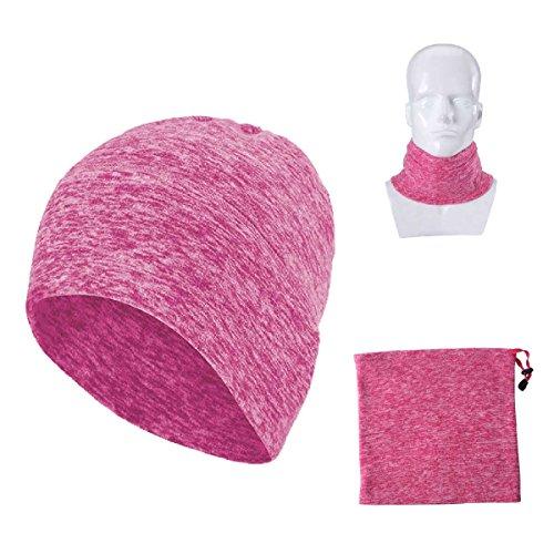 multifuncional Triwonder al cuello gorro hacer máscara Rosa bufanda aire cálido de Headwear Roja trapo de invierno libre Magic más – rAqnYr