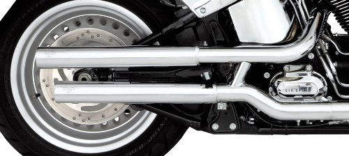 Vance & Hines Chrome Straightshots HS Slip-ons for Harley Davidson 2007-2014 Fatboy Softail Models by Vance & Hines (Image #3)