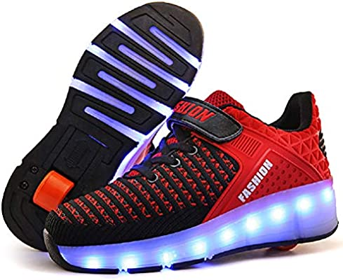 MagicStep Kids 7 Colors LED USB Charging Light Up Shoes for Girls Boys