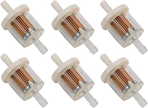 Wellsking 6Packs 691035 Fuel Filter for Briggs Stratton 493629 5065 Prime Line 7-07061 7-07106 Stens 120-158 40 Micron for Selected Engines with Fuel Pump
