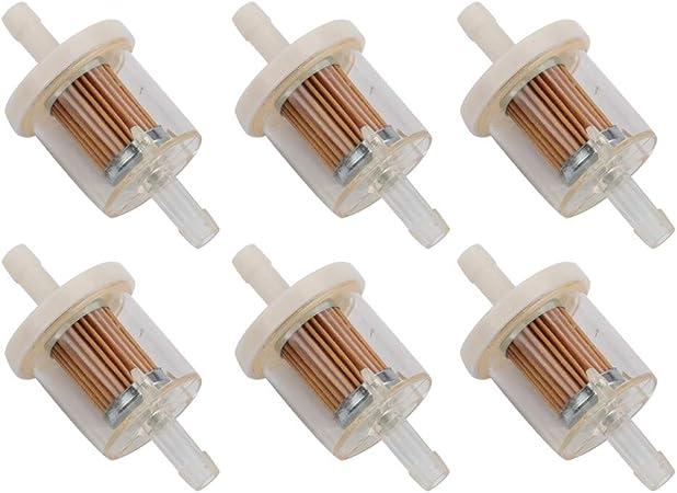 """5 Genuine Briggs /& Stratton 1//4/"""" X 1//4/"""" Gas Fuel Filter 691035   695666 493629"""