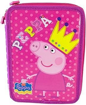 Plumier Peppa Pig Queen doble: Amazon.es: Juguetes y juegos